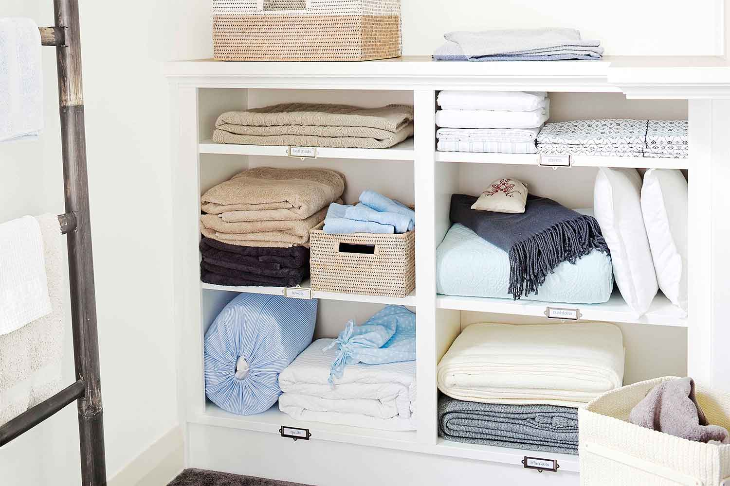 Clean And Organise Your Linen Cupboard With These Bright