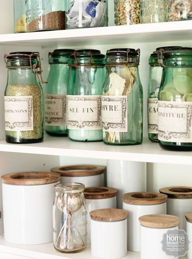 Use cute canisters and labels