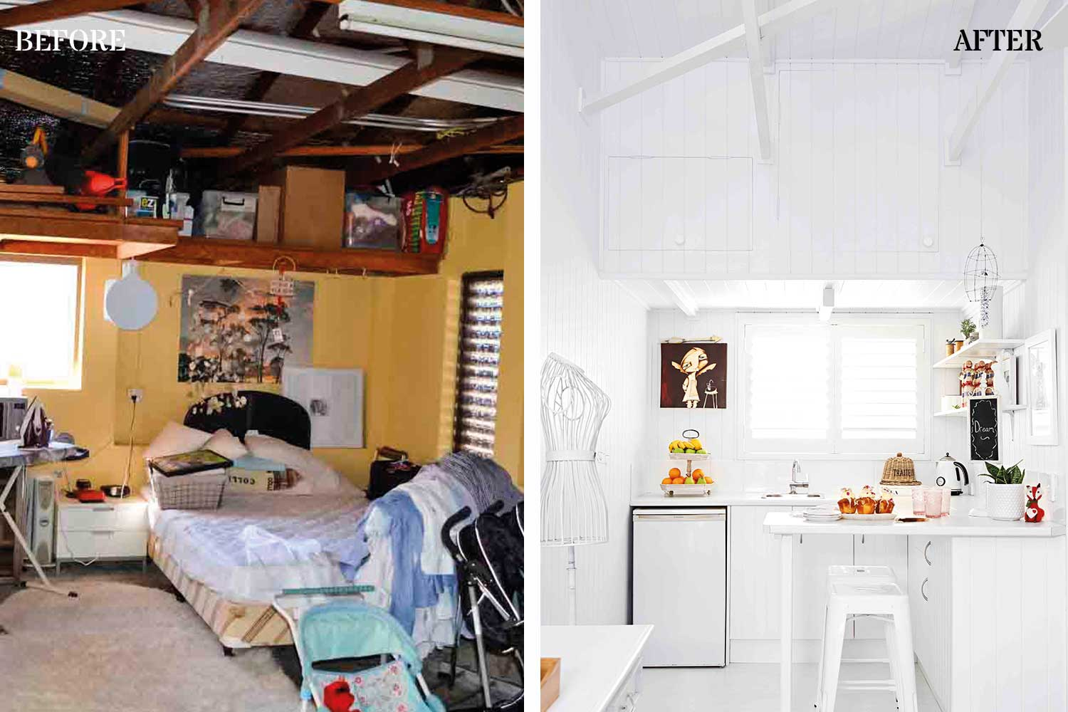 sustainable home design. Before  After from garage to guest house Four sustainable home designs that don t cost the earth Home