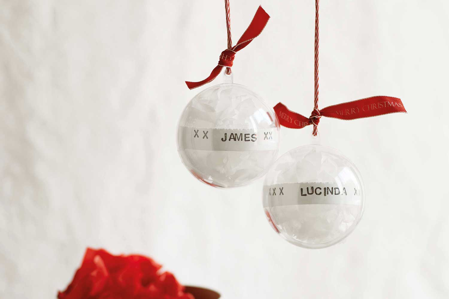 How To Make Pretty Personalised Christmas Baubles Home