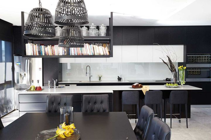 7 great ideas for a black and white kitchen | Home Beautiful ... on black and white wedding reception ideas, black and white printable periodic table, black and white traditional kitchens, black kitchen design, black and white kitchens hgtv, high gloss black kitchen ideas, black and white tattoo ideas, black and white galley kitchens, black luxury kitchen, black backsplash ideas, black kitchen cabinets ideas, black kitchen island, black and off white kitchens, black and white painting ideas, before and after kitchen ideas, black white red kitchen, black and white stuff, black and white nail ideas, black and white kitchens with yellow accents, black kitchen sink ideas,