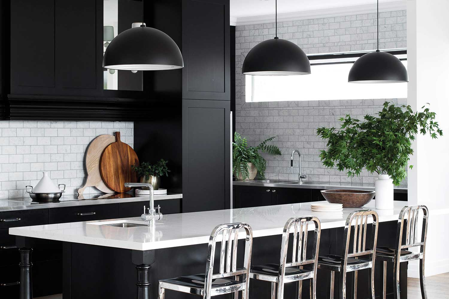 7 awesome ideas for a black and white kitchen