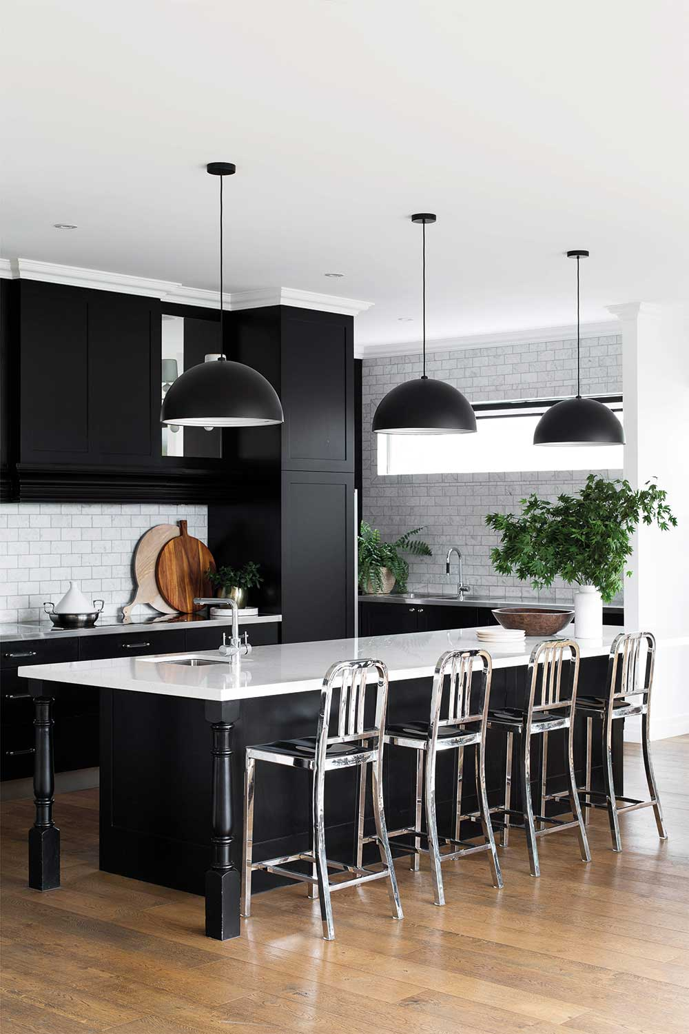 23 great ideas for a black and white kitchen  Home Beautiful