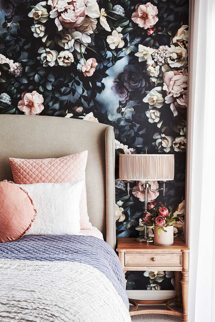 Room Recipe How To Do A Bold Floral Wallpaper Feature Wall