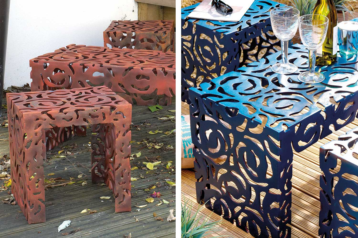Before Amp After How To Paint Metal Furniture Home