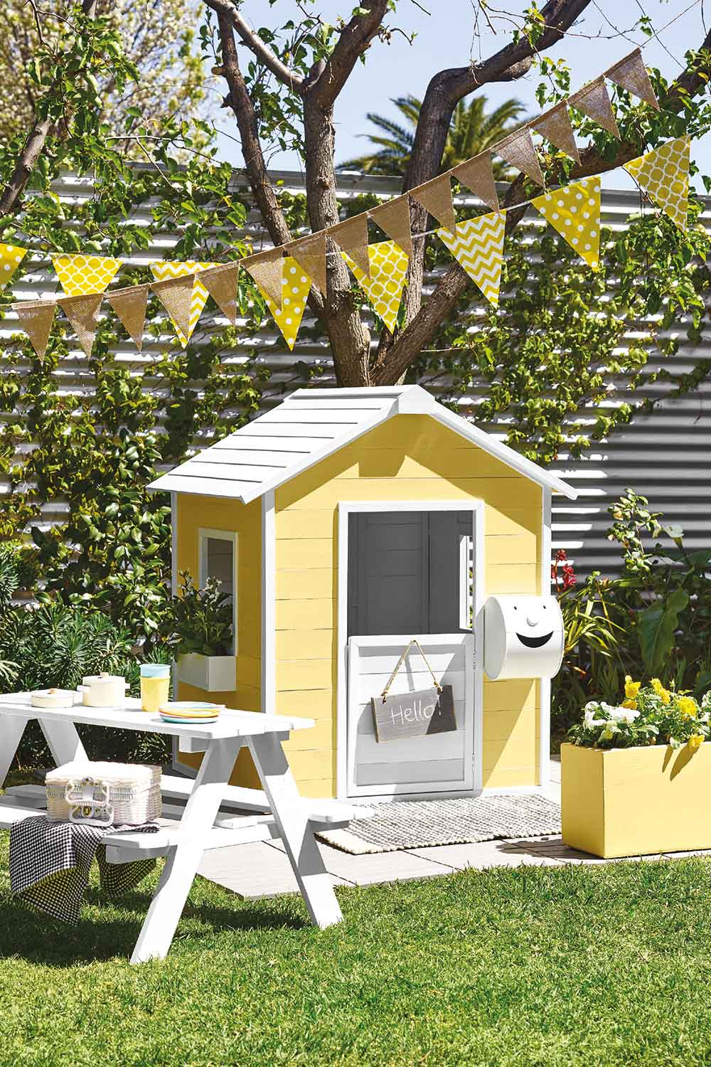 Give Your Kids Cubby House A Fabulous Facelift For Summer Your Mini Me Home Will Be The Hottest House On Your Street Home Beautiful Magazine Australia