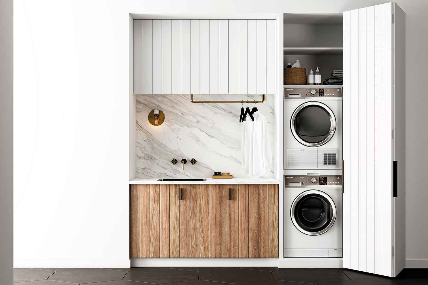 Small Space Laundry Renovations How To Fit A Laundry Into