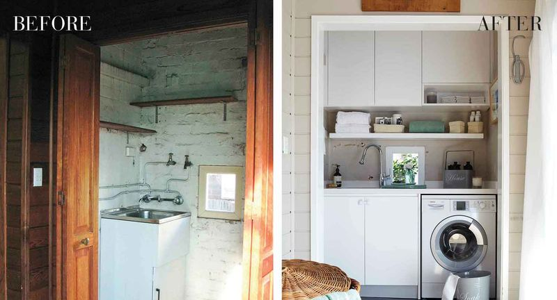 Before After Laundry Makeover