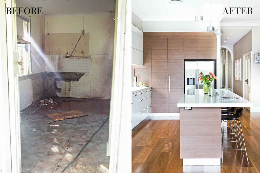 Before & After: A run-down Federation kitchen transformed into a modern masterpiece