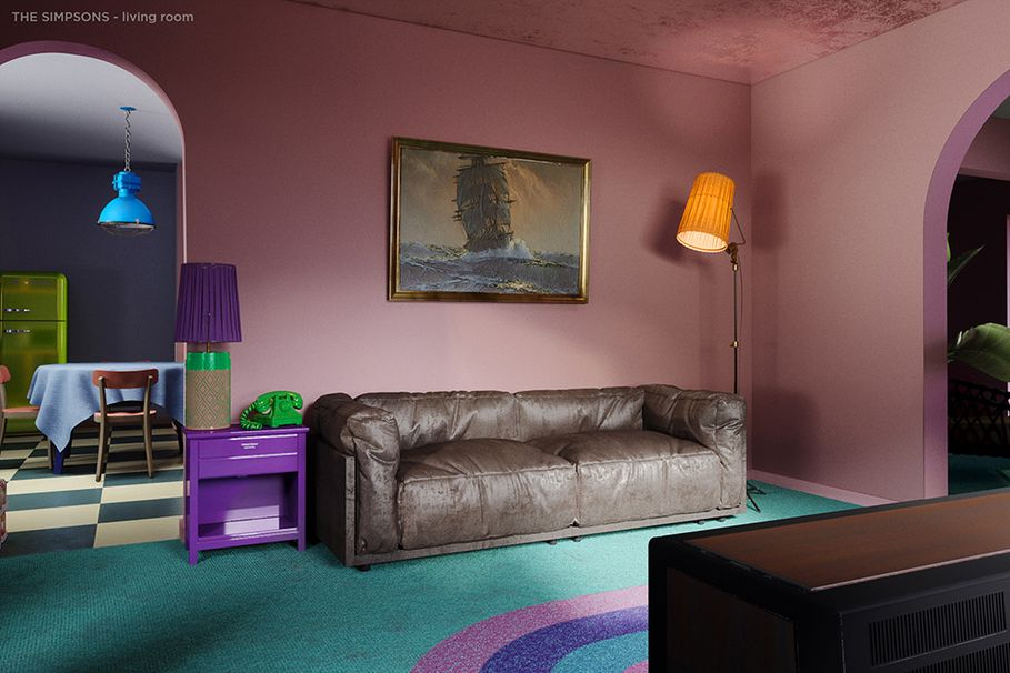 The Simpsons home gets a luxe makeover