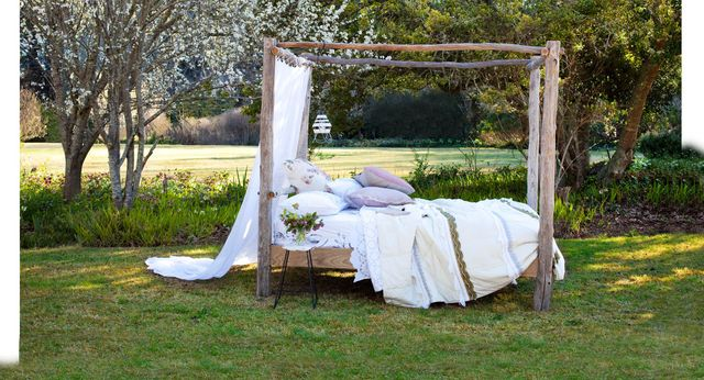 Enjoy the great outdoors from the comfort of your bed