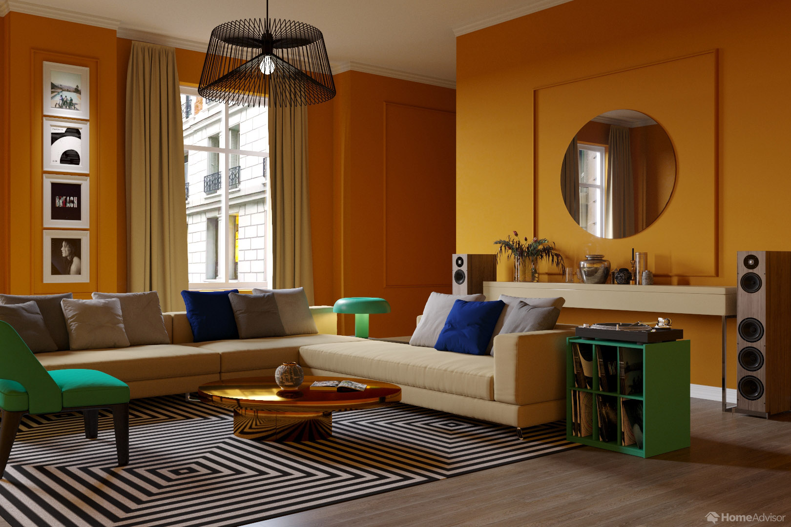 How to choose your interior colour scheme according to your favourite music