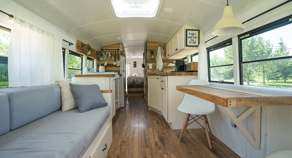 This bus-turned-loft will give you home and travel envy ...