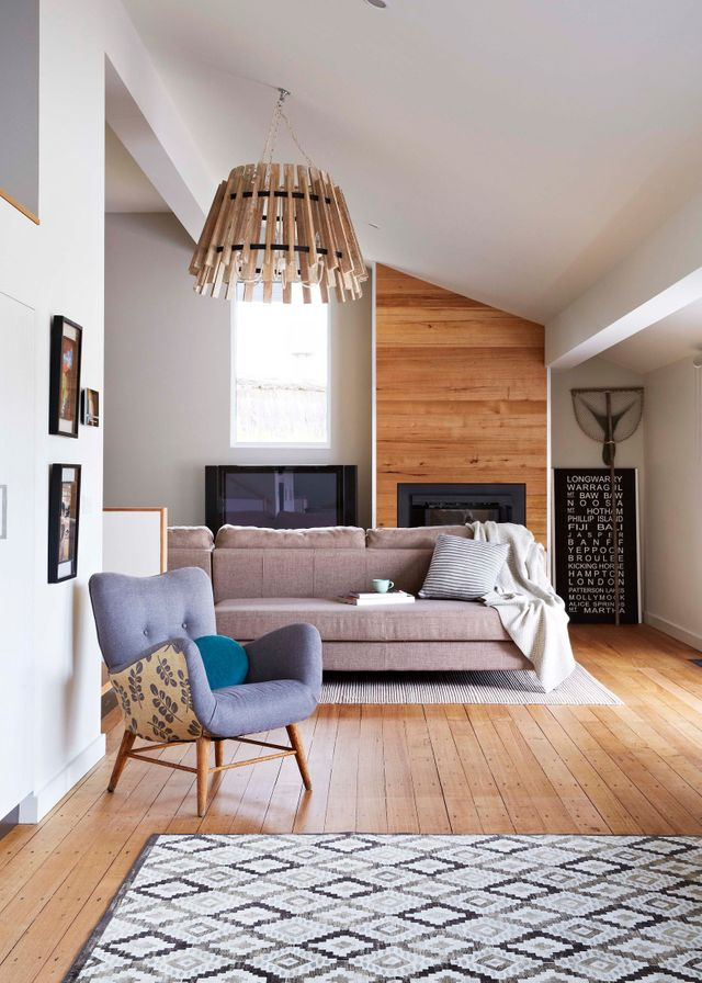 An earthy mix of timber and white
